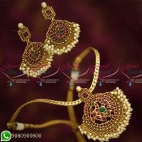Gold Plated Jewellery AD Stones Traditional Antique Attigai Designs Online