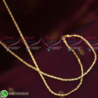 Gold Plated Chains Thin Regular Gobi Design New Models Copper Metal Chains