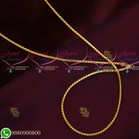 Gold Plated Fancy Design Chains Daily Wear 24 Inches Copper Metal Jewellery