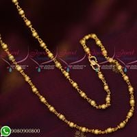 Gold Plated Jewellery Chains 4 MM Thick Ball Design Daily Wear Collections