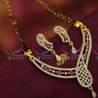 ruby-cz-pendant-mangalsutra-indian-traditional-auspicious-jewellery-online-two-strand-black-beads-mala